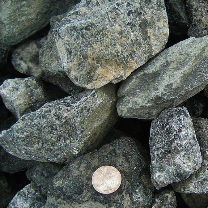 Crushed Blue Stone : Charlottesville landscaping decorative gravel from the